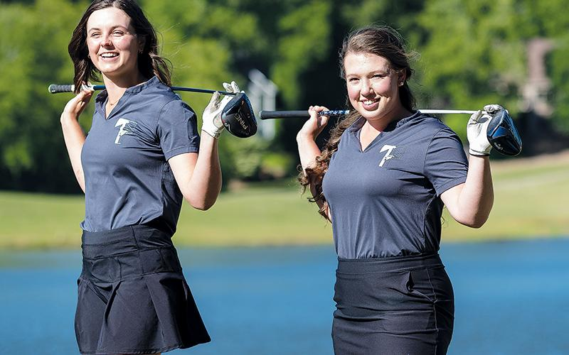 Tallulah Falls golfers Maggie Jackson (left) and Brinson Hall are poised for a great senior season in 2021.