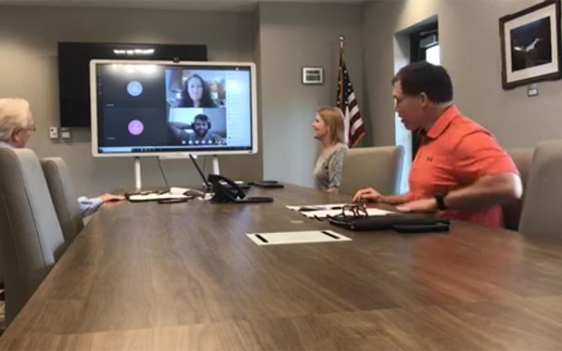 Habersham County held its meeting May 4 via conference call and video chat.
