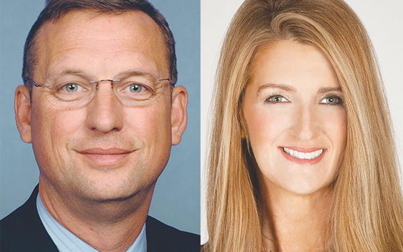 U.S. Rep. Doug Collins (left) and U.S. Sen. Kelly Loeffler are the two most high-profile of the 21 candidates running in the 'jungle' primary for Loeffler's Senate seat.
