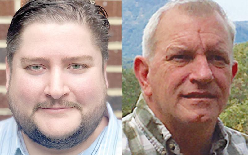 Democrat Mike Adams (left) is challenging Republican incumbent Tim Stamey in the Nov. 3 election.