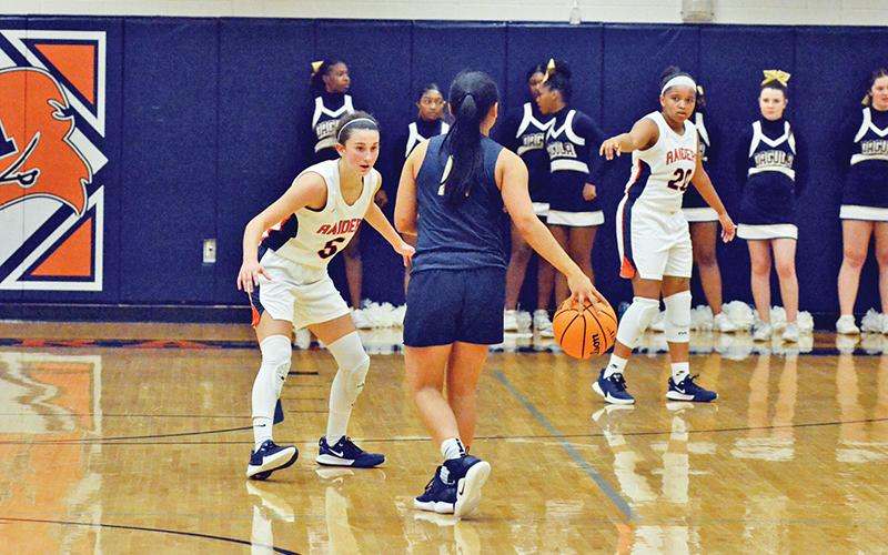 Habersham Central's girls basketball team will have strong experience returning from last year's team, including Addie Penick (5) and Nykerriah Brown (20).
