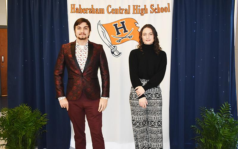 Habersham Central's Ege Keskin (left) and Amber Wojteczko were honored Tuesday for being named salutatorian and valedictorian, respectively, of the Class of 2021. CHAMIAN CRUZ/Staff