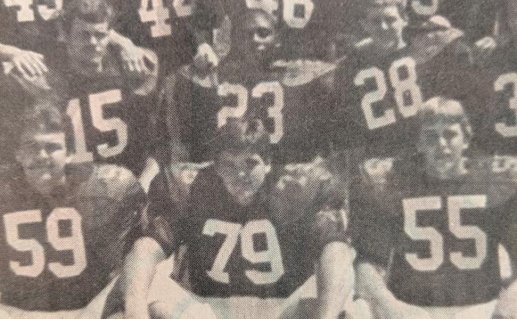 Shown is former Habersham Central High School Football player Stacy Ivester, No. 79, during his senior season in 1985. Ivester will be inducted into the Habersham County Football Ring of Honor July 30 at The Orchard.
