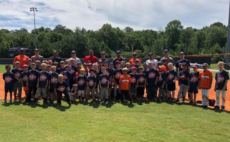 Baseball camp group photo