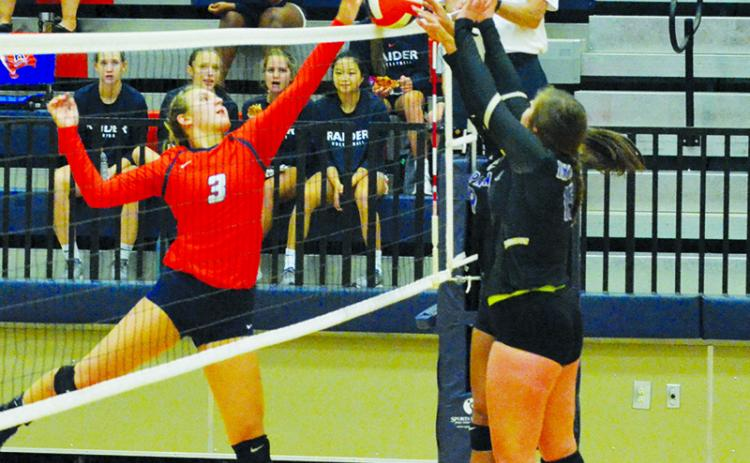 Habersham Central's Alexandra  Shalikashvili (3) was the top volleyball vote getter in the Blitz Hall of Fame balloting for 2020.