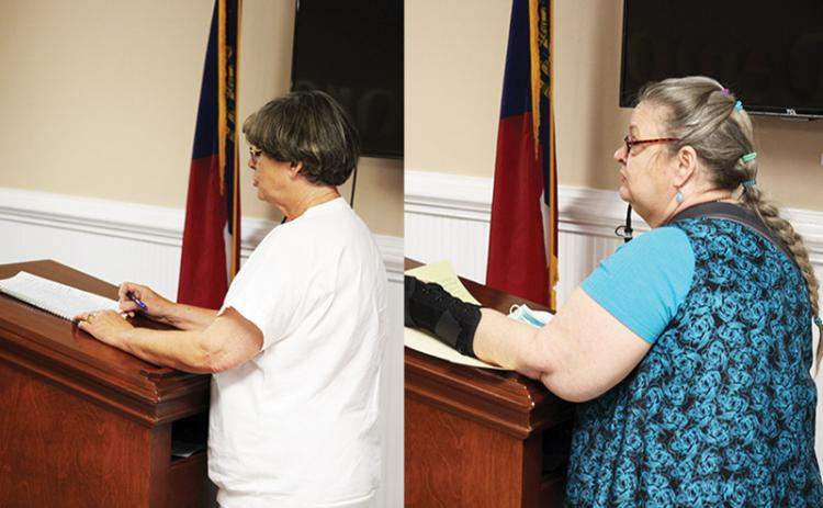 Left photo, Demorest resident Joan Tench is one of the residents that is requesting the termination of City Manager Kim Simonds and resignation of Councilmen Nathan Davis and John Hendrix. Right photo, Demorest resident Deborah Showalter is one of the residents representing the CCD or Concerned Citizens of Demorest. Among other things, they do not wish to see those officials removed, but does want attorney Joey Homans to resign.