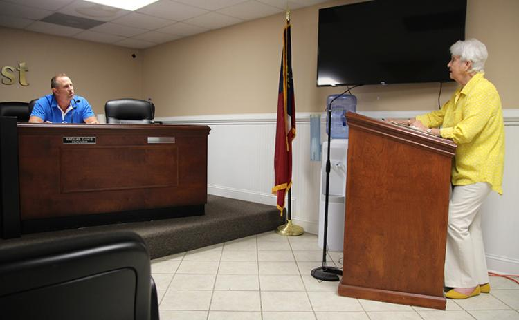 Demorest Councilman Nathan Davis and former councilwoman Florence Wikle remained in a constant back and forth in Tuesday night's meeting.