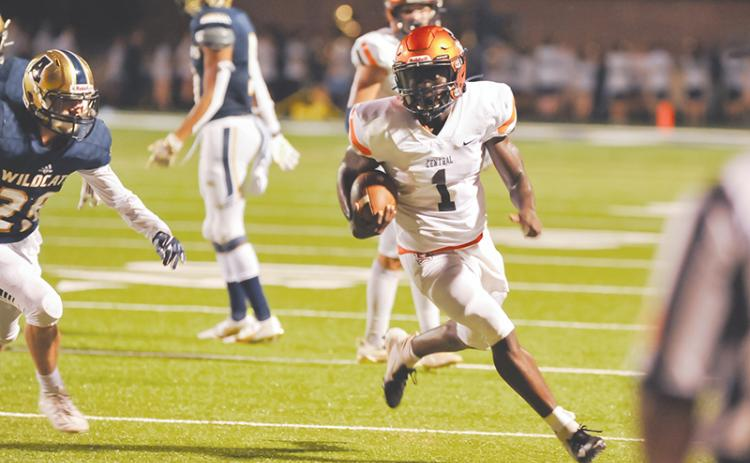 Habersham Central has seen success on fourth down this season so far, thanks to big plays from Josh Pickett (1) among others. TOM ASKEW/Special