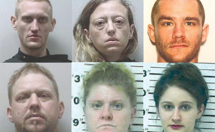 Clockwise from top left: Jason Nicholas Pressley, Greta L. Shackelford, Paul D. Gross, Megahn Wright, Lois Elizabeth Sorrow and Michael J. Gloss.