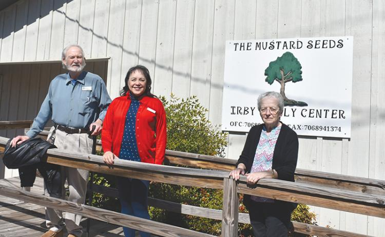 Mustard Seed Counseling Services Founder and Director Mike Johns, Assistant Administrator Linda Diamond and Assistant Office Manager Virginia Abbot (from left) work out of the Irby Family Center in Cornelia.